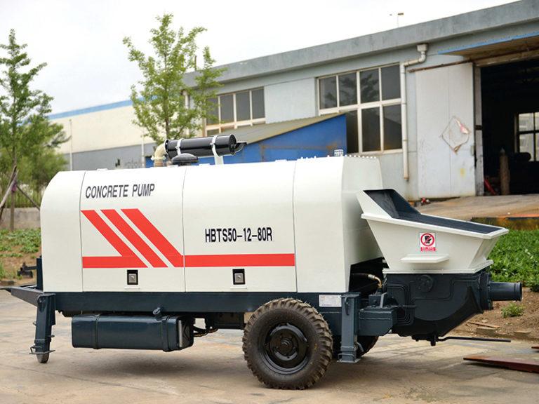 trailer concrete pumps machine for sale