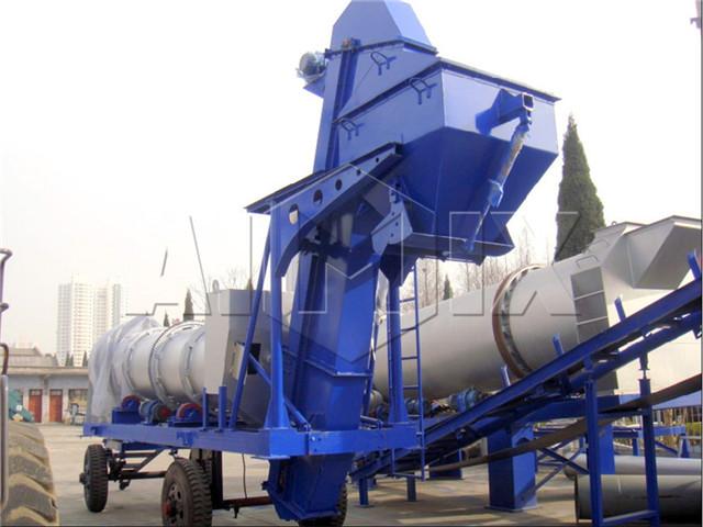 Mobile asphalt mixing plant equipment